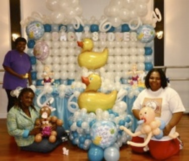 baby shower duck                                 balloon design