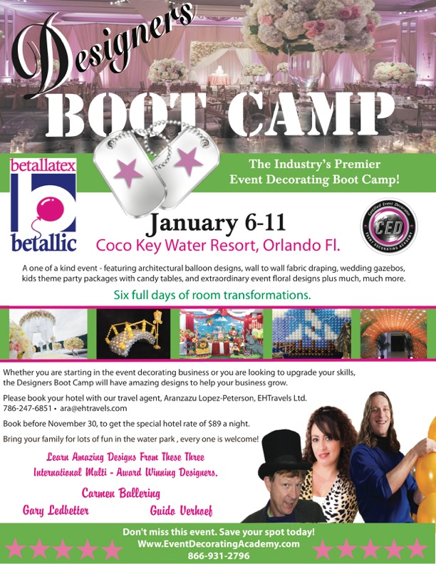 Event Decorating Academy Event Decorator Boot Camp Orlando